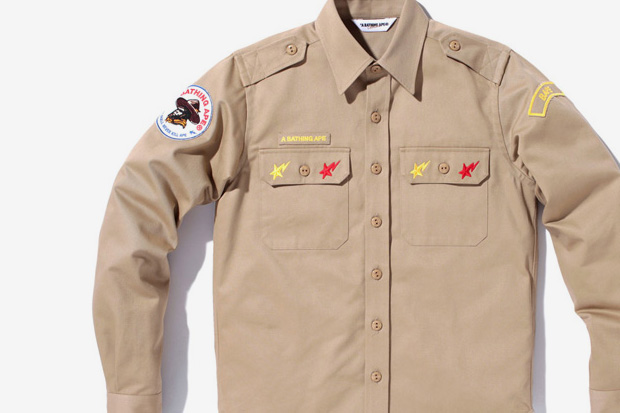 A Bathing Ape Patch Work & Scout Shirts