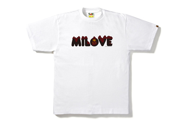 A Bathing Ape Love Baby Milo T-shirts