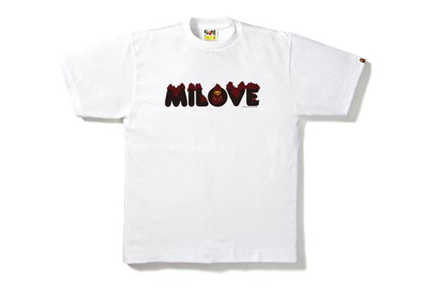 A Bathing Ape Love Baby Milo T-shirts