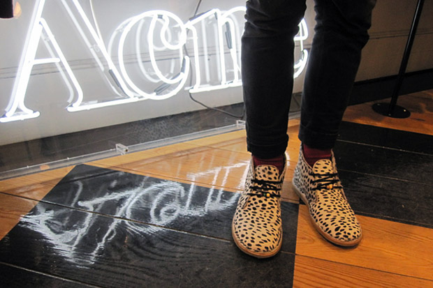 Acne Animal Print Desert High Boot