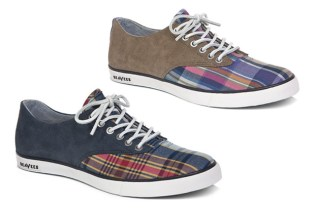 Gitman Bros. x SeaVees 09/63 Bleeding Madras Plimsoll Collection