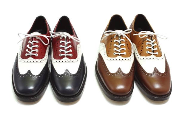 Needles Multi Tone Full Brogue Shoes by Trickers
