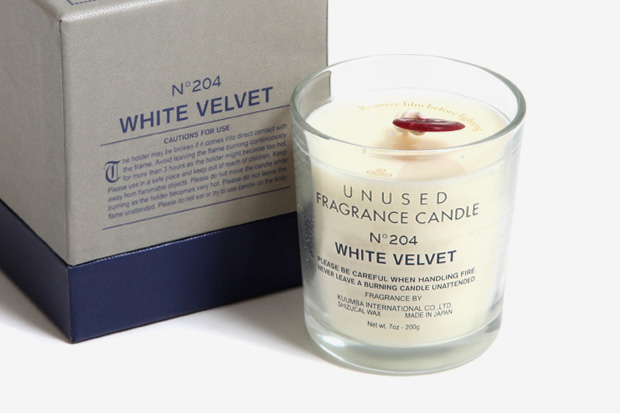 "UNUSED No. 204 ""White Velvet"" Candle by KUUMBA"