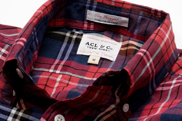 "ACL & Co. x GANT Rugger ""Handloom Hugger"" Indian Madras Shirt"