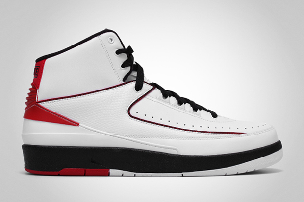 Air Jordan 2 Retro White/Black-Varsity Red