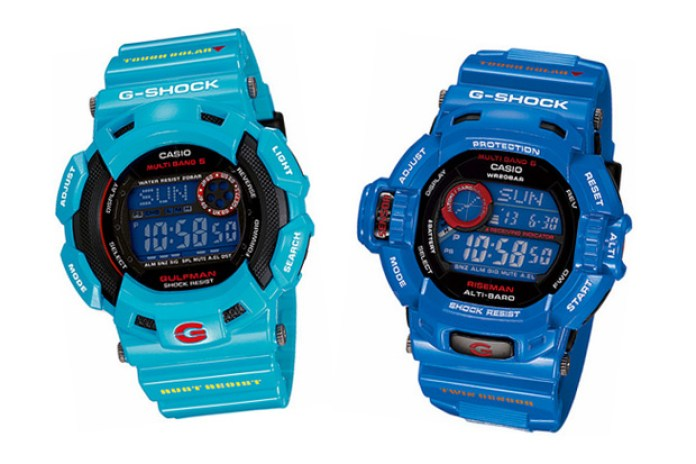 """CASIO G-SHOCK 2010 March Releases """"Men In Earth Blue"""""""