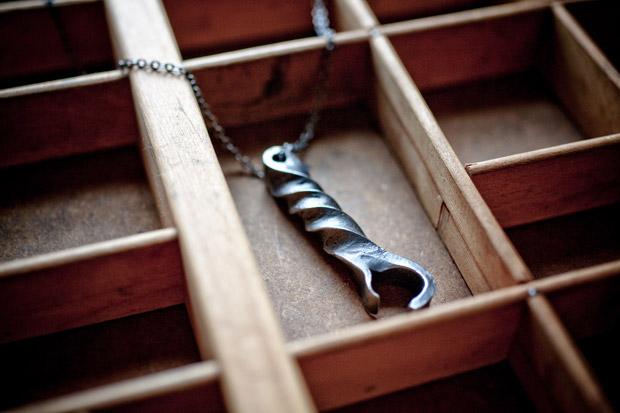 CXXVI Steel Bottle Opener Necklace