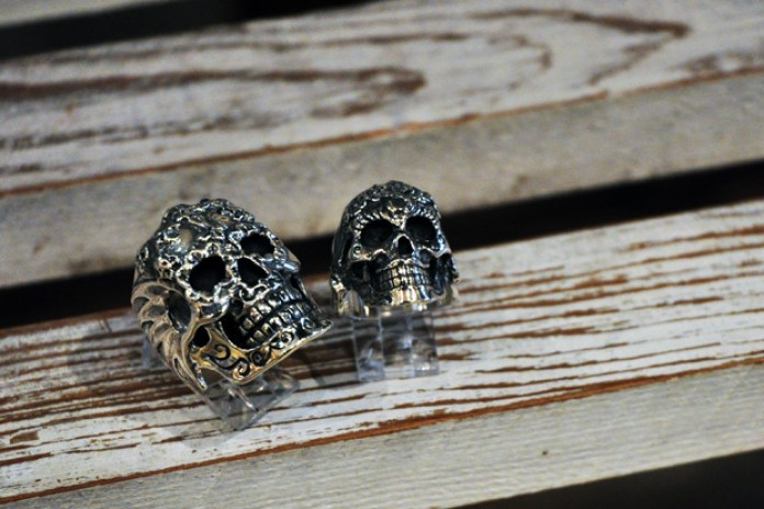 """Crazy Pig Designs """"Day Of The Dead"""" Skull Rings"""
