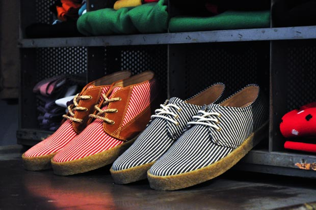 F-Troupe Stripe Canvas Shoes