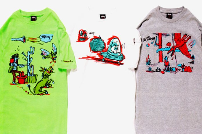 Gary Panter for Stussy 2010 Spring Tees