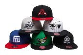 """Hall of Fame x Mitchell & Ness """"Upside Downs"""" Fitted Cap Collection"""