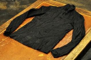 M.A+ Cross Cut Leather Shirt