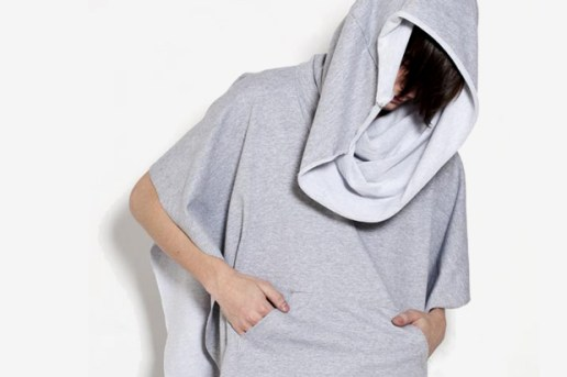 Oak Heather Grey Hooded Poncho