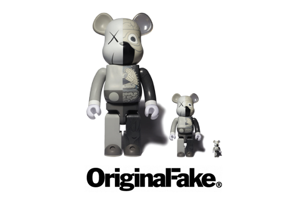 OriginalFake x Medicom Toy Dissected Companion Bearbrick Grey Series