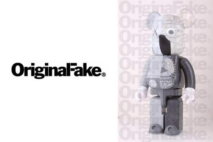 OriginalFake x Medicom Toy Dissected Companion Bearbrick Grey Version