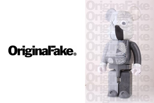 OriginalFake x Medicom Toy Dissected Companion Bearbrick Grey Version
