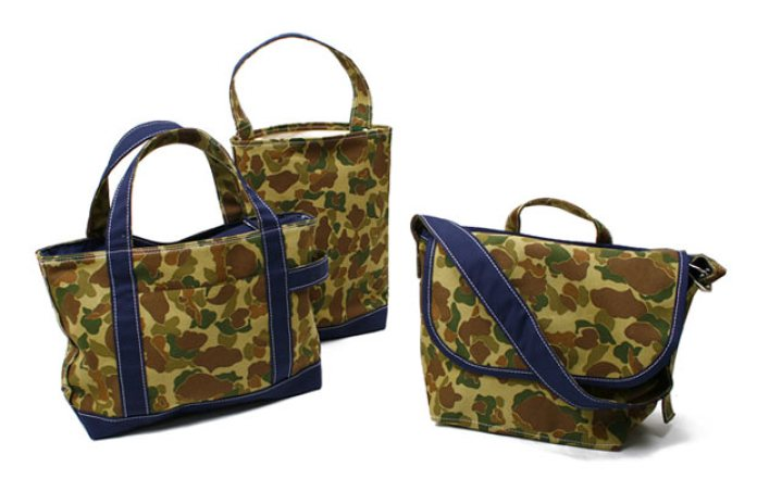 TEMBEA Camo Waxed Cotton Bags