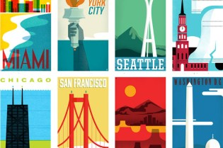 """THE HEADS of STATE """"From Sea to Shining Sea"""" Travel Poster Series"""