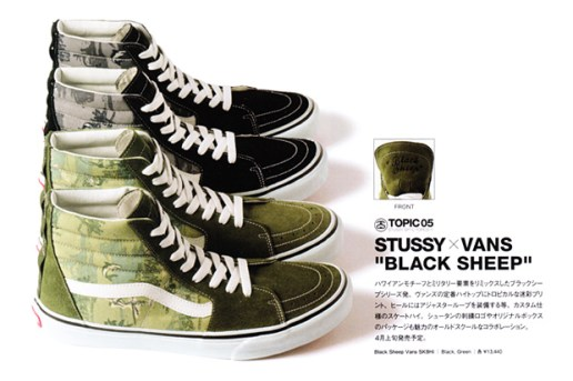 "Vans x Stussy ""Black Sheep"" SK8-Hi Preview"