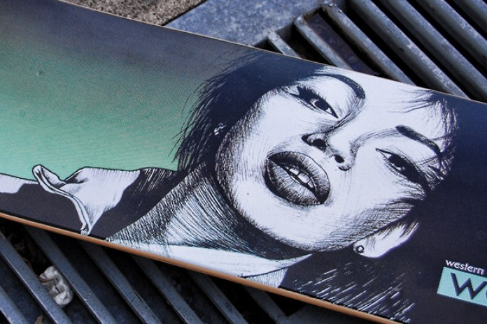 "Diamond Supply Co. x Western Edition ""Sade"" Skate Deck"
