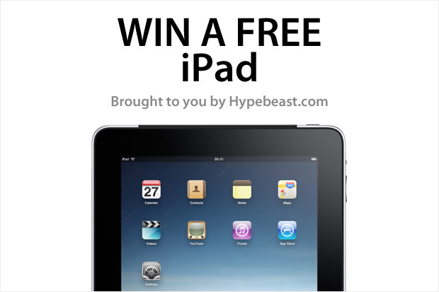 Win a Free Apple iPad: Brought To You By HYPEBEAST.com
