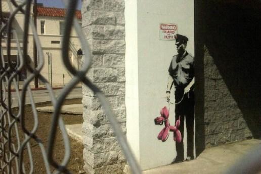 """Banksy in Los Angeles """"Guard On Duty"""""""
