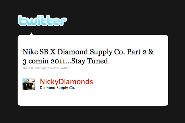 Diamond Supply Co. x Nike SB 2011 release