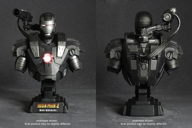 Hot Toys Iron Man 2 War Machine Collectible Bust
