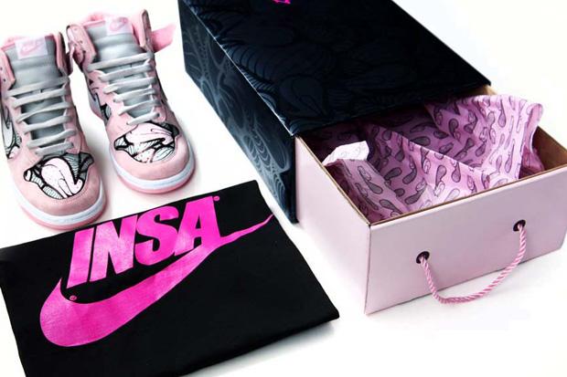 INSA Custom Nike Dunks for Kicks N Canvas