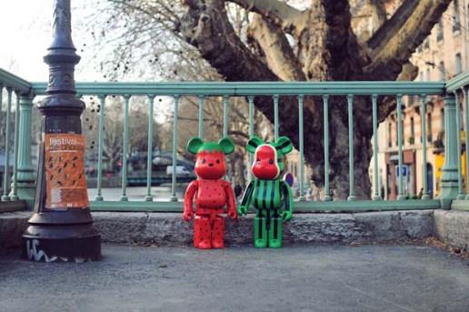 Levi's x CLOT x MEDICOM TOY 1000% Bearbrick Watermelon & Strawberry Set
