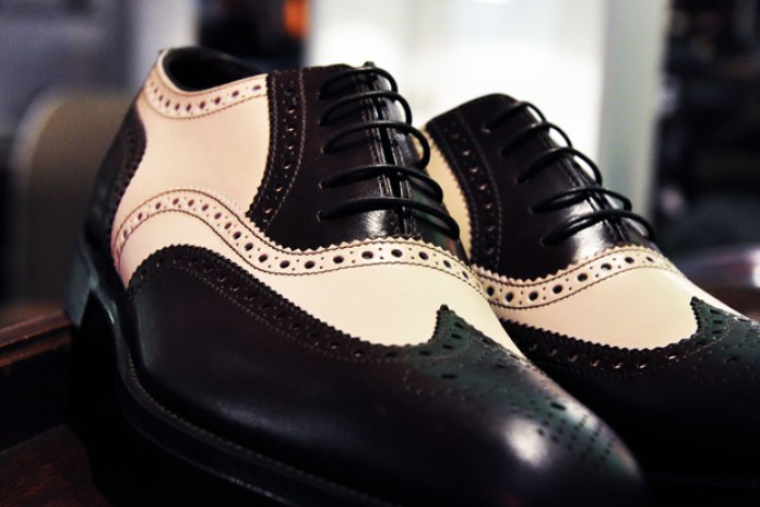 Loake Sloane Brogue Dark Brown/Cream
