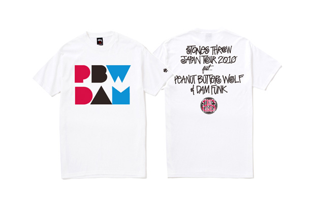 Stones Throw x Stussy 2010 Japan Tour 30th Anniversary T-shirt