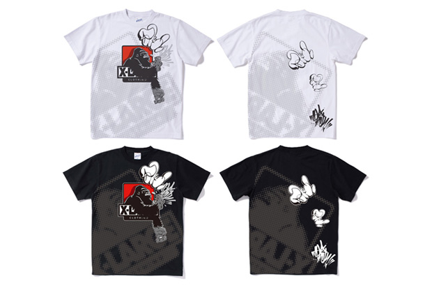 XLarge x Slick Halftone Logo Paint T-Shirt