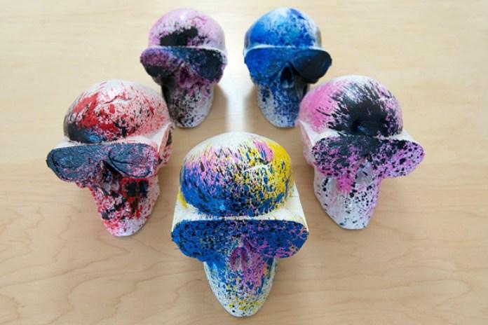 Arkitip's Gypsum Skull Sculpture by Michael Leon