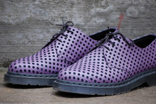 Dr. Martens Flocked Polka Dot Shoes