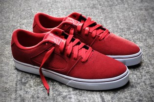eS Square Two Red Suede