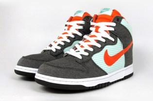 Nike Dunk High Army Green/Orange Blaze Mint
