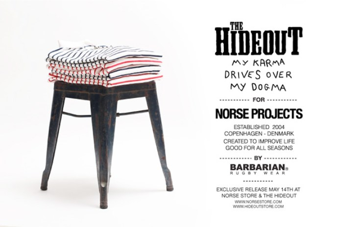 Norse Projects x The Hideout x Barbarian Rugby Shirt Preview
