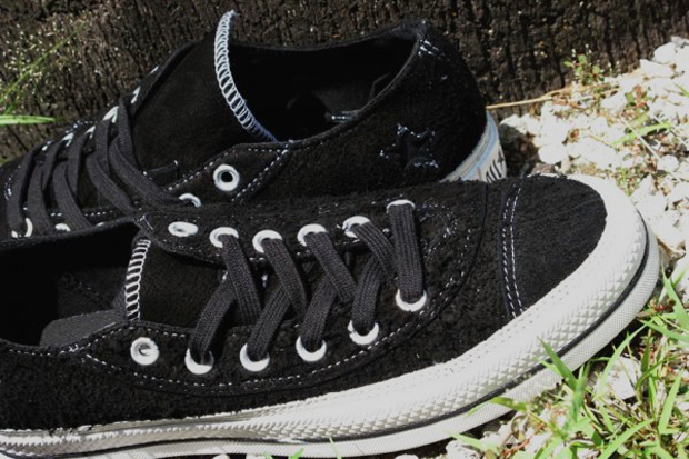 Number (N)ine for Converse Black Asymmetrical Chuck Taylor Ox