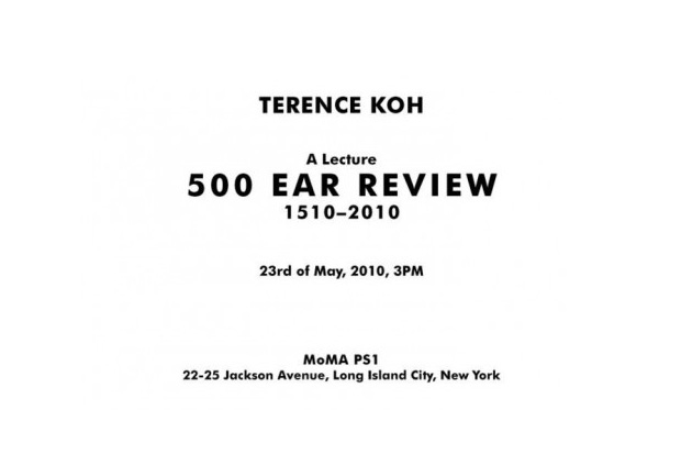 Terence Koh Lecture @ MoMA PS1