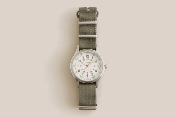 Timex Vintage Field Army Watch by J. Crew