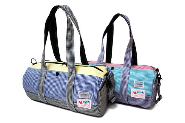 atmos x Porter Check Mini Boston Bag