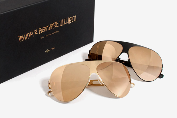 Bernhard Willhelm x MYKITA Franz 24K Gold Sunglasses