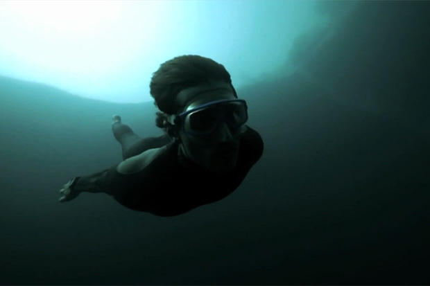 Guillaume Nery Underwater Base Jump