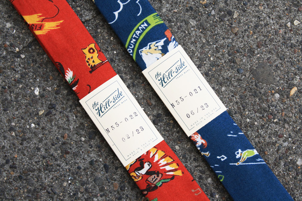 The Hill-side Vintage Print Ties