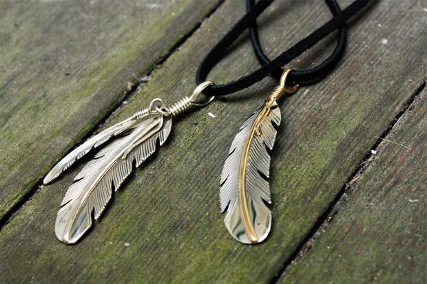 Self Edge x HMace Navajo Feather Pendants