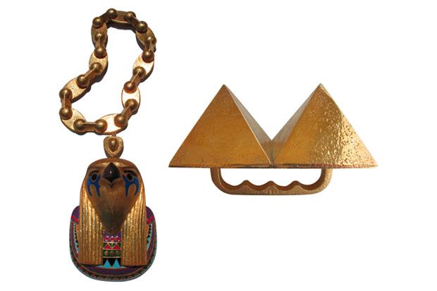 Kanye West's Horus Chain & Pyramid Ring
