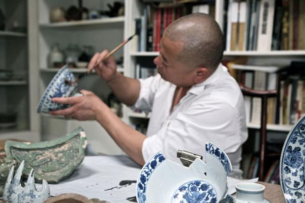 Lacoste Porcelain Polo Shirt by Li Xiaofeng