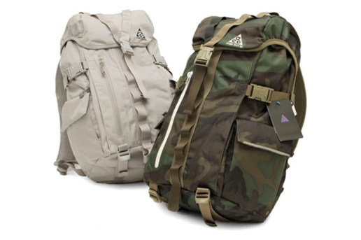 "Nike ACG ""Steel City"" Grey & Camo Backpacks"
