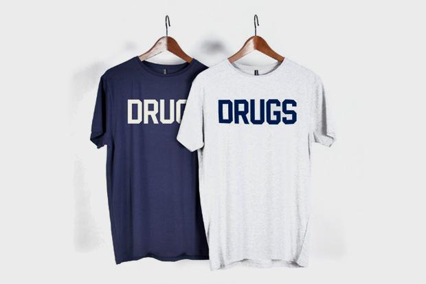 """Struggle Inc. x Sixpack France """"Drugs"""" T-Shirt"""